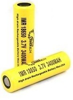 IMREN 18650 3400mah 25a (NOW 2 pc.)  (Flat Top/Yellow)