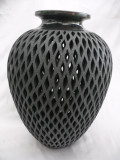 DR-83 Shoulder Vase Narrow Base Flared Mouth Filigree
