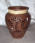 HMB-3A Amphora Brown with Braid Filigree Small