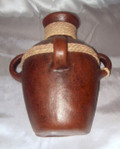 HMB-43 Wall Vase Brown with Braid Solid