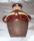 HMB-43B Wall Vase Brown with Braid Partial Filigree