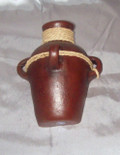 HMB-45 Wall Vase Brown with Braid Solid