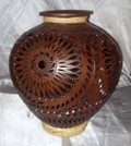 N-23 Classic Bean Pot Brown Filigree with Braid