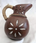 N-27 Wall Milk Pitcher Brown with Braid