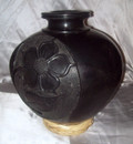BC-3 Classic Bean Pot Solid Flower Bas Relief