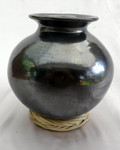 DR-8 Unpolished Black Clay Bean Pot with Hat