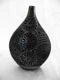 Matte Black Flat Genie Jar with Neck