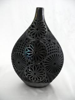 Matte Black Flat Genie Jar with Neck