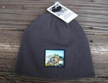 Peace Sign Taos Organic Cotton Beanie Hat