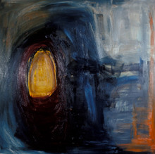 Passage of light in the storm of life.  Oil Painting on Canvas