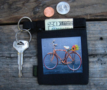 Bamboo Bike Hemp Key Coin Purse