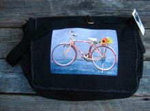 Bamboo Bike Cotton Messenger Bag