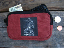 Pine Tree with Heart Hemp I Phone Wallet
