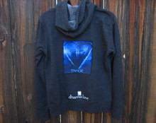 Blue Heart in Tahoe Men's Dharma Bum Organic Cotton Sweatshirt/Hoodie