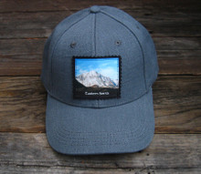 Snow covered Mountain #825 Eastern Sierra Hemp Baseball Hat