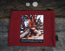 Ancient Bristlecone Pine #803 Medium &  Large Hemp Coin Purse