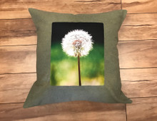 Make a wish (dandelion) Handcrafted, hand Dyed Cotton Pillow
