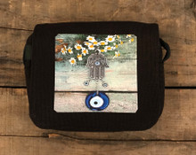 Hamsa with feverfew City Slicker Small & Large Hemp Purse