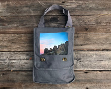 Alabama Hills Moonrise#900 Cotton Field Bag/ Purse