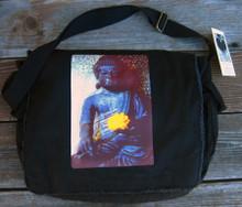 Earth witness Buddha Messenger Bag