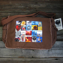 Love, Peace & Happiness Messenger Bag