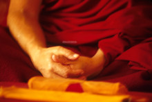 Hands of Geshe-la greeting card