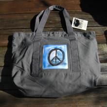 Peace sign beach/market tote
