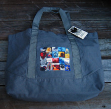 Love, peace & happiness beach/market tote