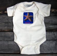 Starfish organic cotton baby onesie
