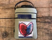 Cosmic interlude of love  Hemp 3 Zip Bag/Purse
