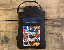 Love Amore Agape Hemp 3 Zip Bag/Purse