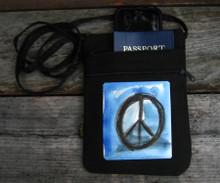 Peace Sign  Hemp 3 Zip Bag/Purse