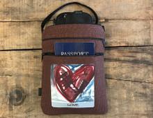 Spinning in Love (heart) Hemp 3 Zip Bag/Purse
