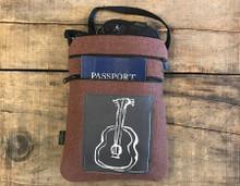 Guitar Hemp 3 zip bag/purse