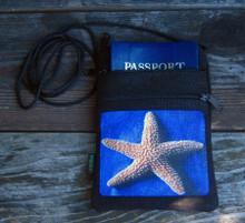Star Fish Hemp 3 Zip Bag/Purse