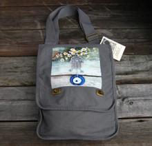 Hamsa with feverfew field bag