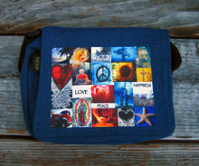 Love & Peace & Happiness Small & Large City Slicker Hemp Purse/Bag