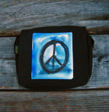 Peace Sign Small & Large City Slicker Hemp Purse