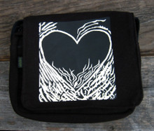 Flaming Heart of Love Small & Large City Slicker Hemp Purse