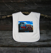 Truck in Taos Certified Organic Cotton Baby bib