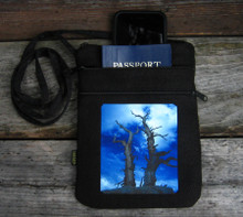 Snags above Tahoe Hemp 3 Zip bag/purse