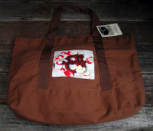 OM with rose petals beach/market tote