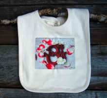 OM with rose petals Organic Cotton Bib