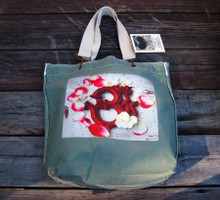OM with rose petals Girly Tote