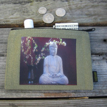 Buddha & Blossoms  Medium & Large Hemp Coin Purse