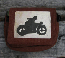 Motorcycle Symbol Small & Large City Slicker Hemp Purse
