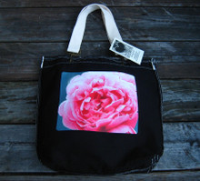 Pink Rose Cotton Girly Tote/Purse