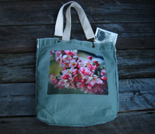 Pink Blossoms Cotton Girly Tote/Purse