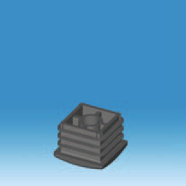 Square Ribbed Threaded Inserts available in a variety of Sizes and Stem Thicknesses
