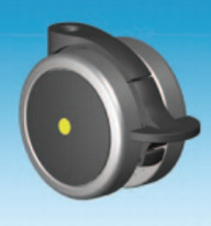 Black 75mm Total Lock Anti Static Conductive Castor Suitable for Medical Applications